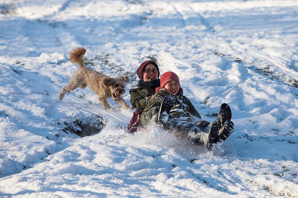 Sled「Britain Freezes As Siberian Weather Sweeps Across The Country」:写真・画像(0)[壁紙.com]