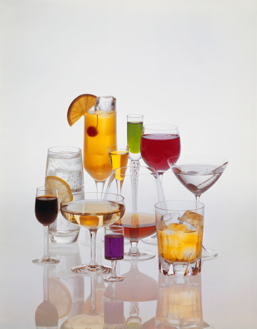 Martini「Assorted glasses of drink against white background」:スマホ壁紙(8)