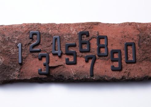 Zero「Numbers on bricks」:スマホ壁紙(15)