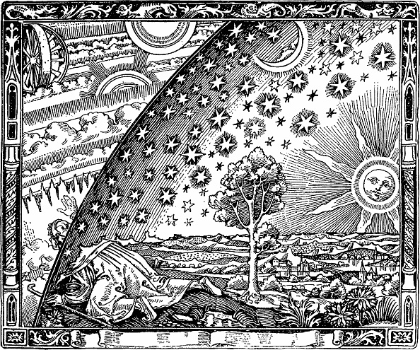 Woodcut「The edge of the firmament (Flammarion engraving) From L'atmosphère. Météorologie populaire by Camill Artist: Anonymous」:写真・画像(1)[壁紙.com]