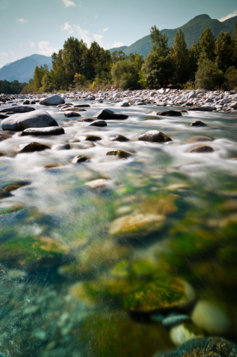 Stream - Flowing Water「streambed in wilderness landscape」:スマホ壁紙(5)