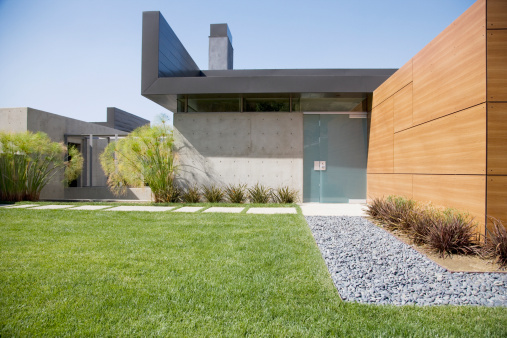 California「Exterior of modern house」:スマホ壁紙(6)