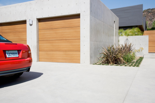Sunny「Exterior of modern two-car garage」:スマホ壁紙(2)