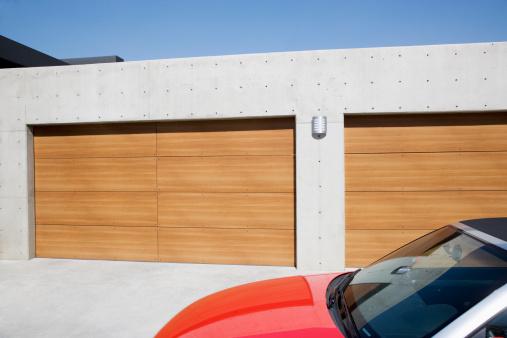 Domestic Car「Exterior of modern two-car garage」:スマホ壁紙(2)