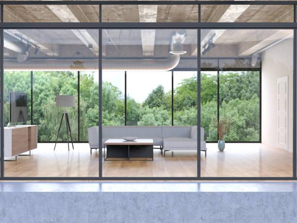 Exterior of a build livingroom building:スマホ壁紙(壁紙.com)