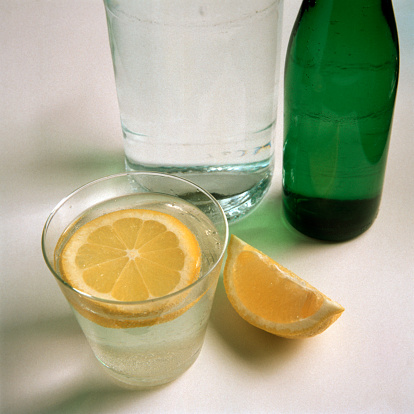 Fruit Garnish「A Glass of Mineral Water with a Lemon Slice」:スマホ壁紙(10)