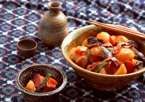 日本食「Fish and Vegetables Boiled in Thick Soy with Sugar」:スマホ壁紙(12)