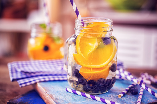 Infused Water「Infused Water with Fresh Blueberries and Oranges」:スマホ壁紙(11)