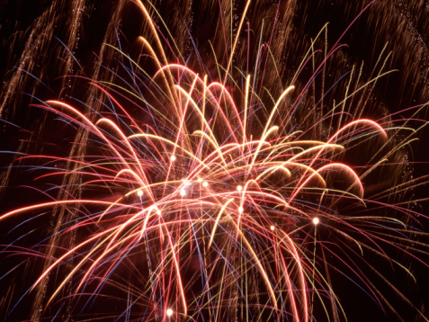 Firework - Explosive Material「Photo, Aerial view of a fireworks display」:スマホ壁紙(12)