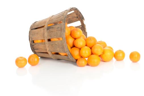 Orange - Fruit「Clementines in a Rustic Basket」:スマホ壁紙(18)