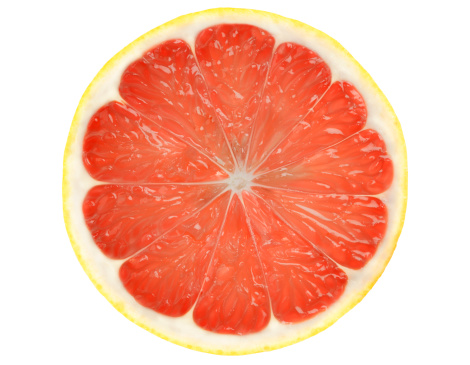 Grapefruit「Grapefruit slice isolated on white background with Clipping Path.」:スマホ壁紙(8)