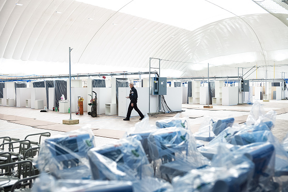 Columbia University「Columbia University's Baker Field Athletic Complex Transforms Into A Field Hospital」:写真・画像(15)[壁紙.com]