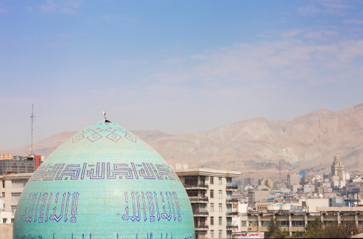 Iranian Culture「Dome of Hosseiniyeh Ershad, Tehran and mountains」:スマホ壁紙(15)