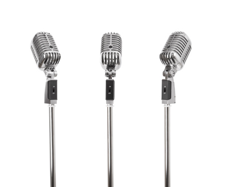 1940-1949「Three of a kind - Retro Microphones (+clipping paths, XXL)」:スマホ壁紙(1)