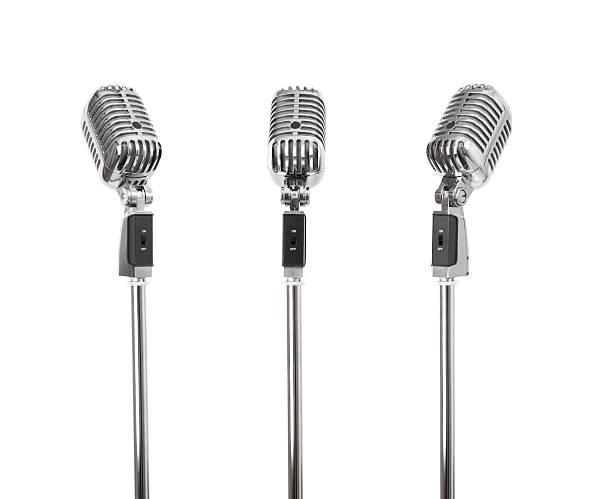 Three of a kind - Retro Microphones (+clipping paths, XXL):スマホ壁紙(壁紙.com)