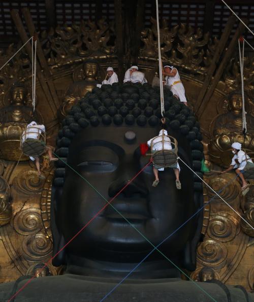 Great Buddha Hall - Nara「Annual Great Buddha Dusting」:写真・画像(14)[壁紙.com]