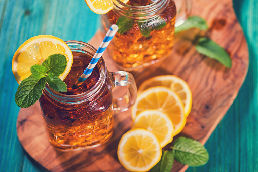 Sweet Food「Ice Tea with Lemon and Mint in a Jar」:スマホ壁紙(0)