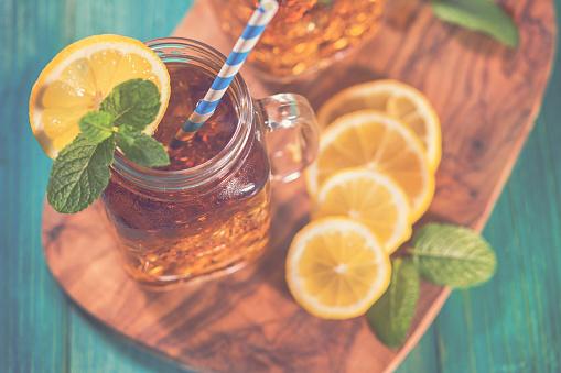 Ice Tea「Ice Tea with Lemon and Mint in a Jar」:スマホ壁紙(5)