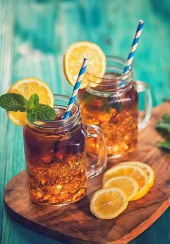 Ice Tea「Ice Tea with Lemon and Mint in a Jar」:スマホ壁紙(7)