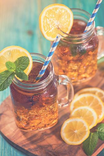Ice Tea「Ice Tea with Lemon and Mint in a Jar」:スマホ壁紙(17)