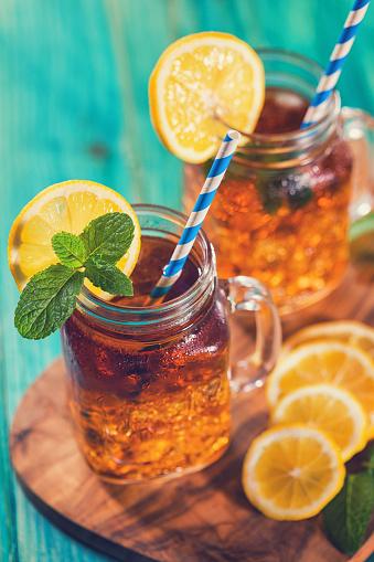 Ice Tea「Ice Tea with Lemon and Mint in a Jar」:スマホ壁紙(2)