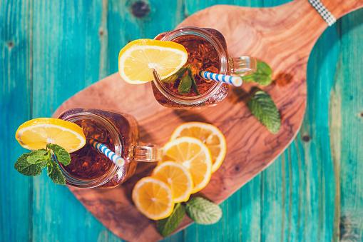 Ice Tea「Ice Tea with Lemon and Mint in a Jar」:スマホ壁紙(12)