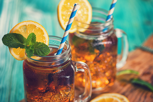 Sweet Food「Ice Tea with Lemon and Mint in a Jar」:スマホ壁紙(7)