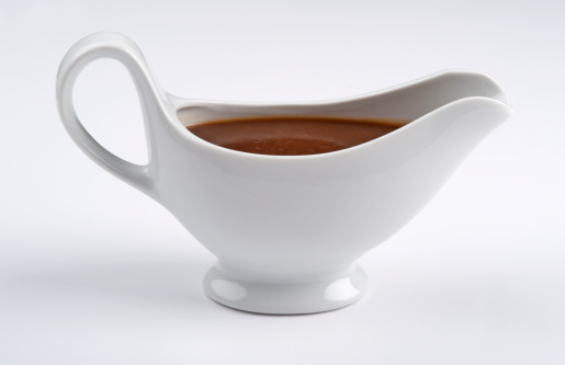 Gravy「White china gravy boat on white background」:スマホ壁紙(6)