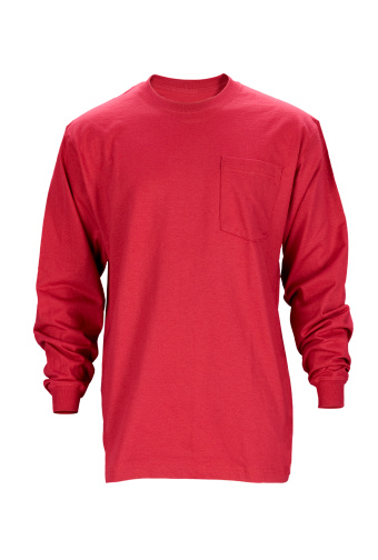 Casual Clothing「Red long sleeved blank t-shirt front-isolated on white w/clipping path」:スマホ壁紙(5)