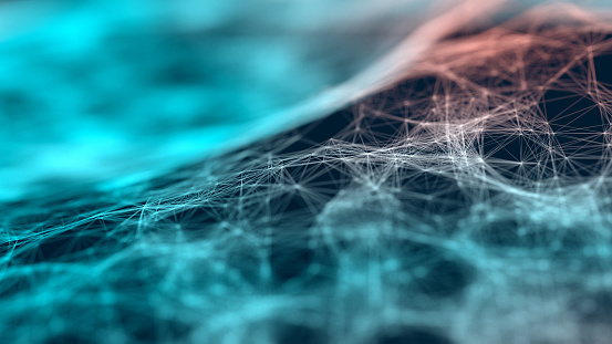 Rolling Landscape「Particle web background」:スマホ壁紙(11)