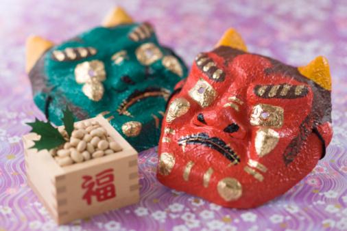 節分「Soybean and mask of evil」:スマホ壁紙(2)