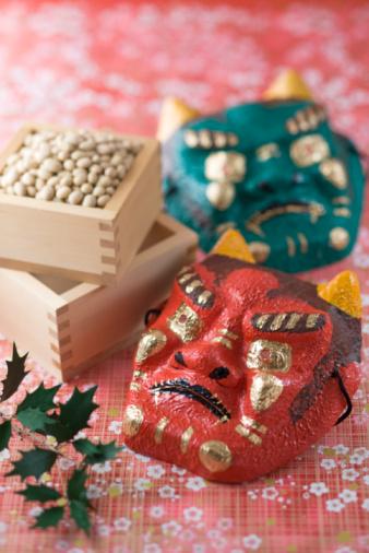 節分「Soybean and mask of evil」:スマホ壁紙(13)