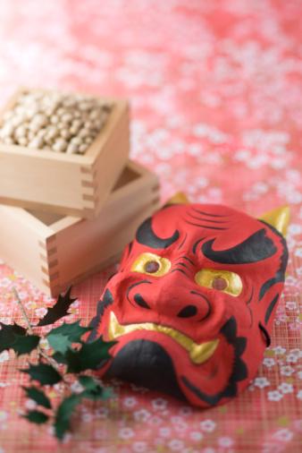 伝統的な祭り「Soybean and mask of evil」:スマホ壁紙(12)
