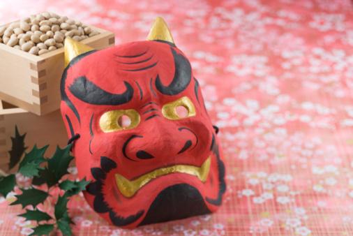 節分「Soybean and mask of evil」:スマホ壁紙(8)