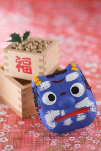 節分「Soybean and mask of evil」:スマホ壁紙(18)