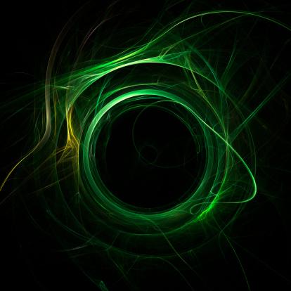 Green Color「エネルギー渦」:スマホ壁紙(14)