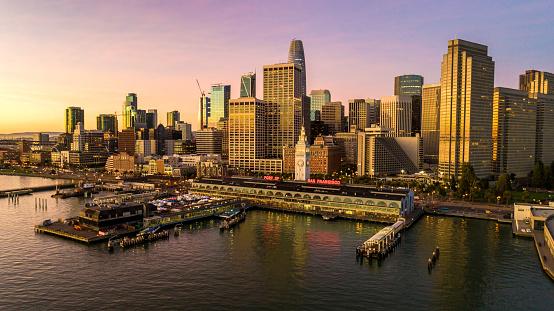 Downtown District「Salesforce San Francisco Skyline」:スマホ壁紙(18)