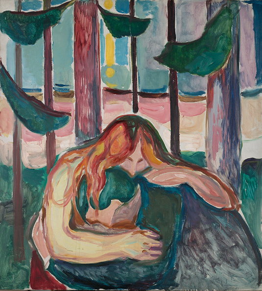 Painted Image「The Vampire In The Forest Artist: Munch」:写真・画像(2)[壁紙.com]