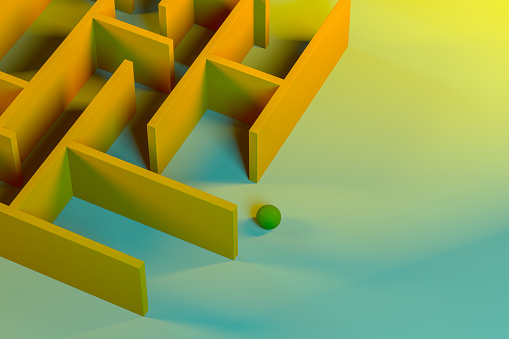 Work luck「Labyrinth, maze, color gradient background」:スマホ壁紙(10)