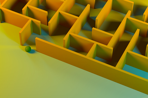 Work luck「Labyrinth, maze, color gradient background」:スマホ壁紙(9)