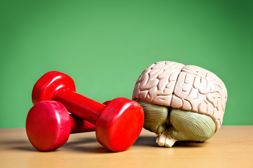Fitness model「Mind and body working synergistically: model brain with barbells」:スマホ壁紙(11)