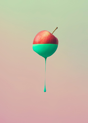 Digital Composite「Dripping color from fruit」:スマホ壁紙(8)