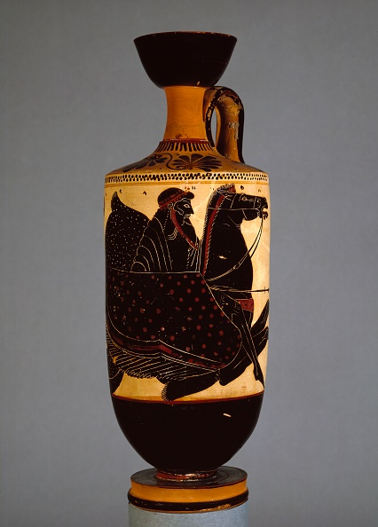 Vase「Athenian White-Ground Lekythos Showing Poseidon On Sea-Horse (Hippocampos)」:写真・画像(4)[壁紙.com]