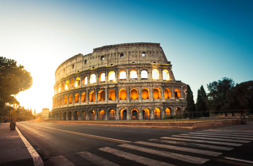 Tourism「Colosseum in Rome, Italy at sunrise」:スマホ壁紙(18)