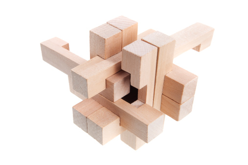 Connection「A geometric puzzle made out of wood 」:スマホ壁紙(18)