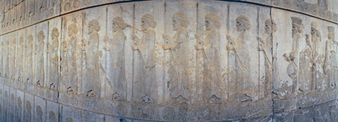 Iranian Culture「Iran, Persepolis, relief of men」:スマホ壁紙(8)