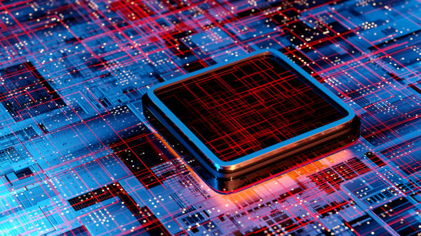 CPU and Computer chip concept:スマホ壁紙(壁紙.com)
