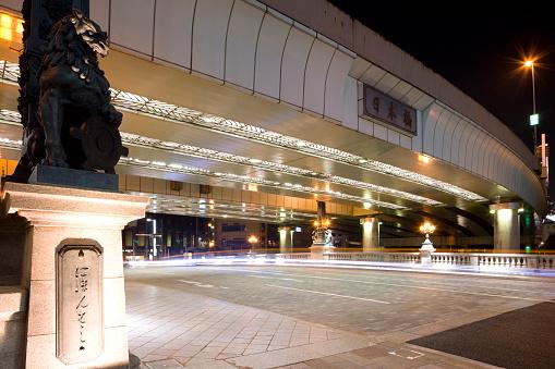 東京都中央区「Nihonbashi bridge at night, Chuo Ward, Tokyo Prefecture, Honshu, Japan」:スマホ壁紙(14)