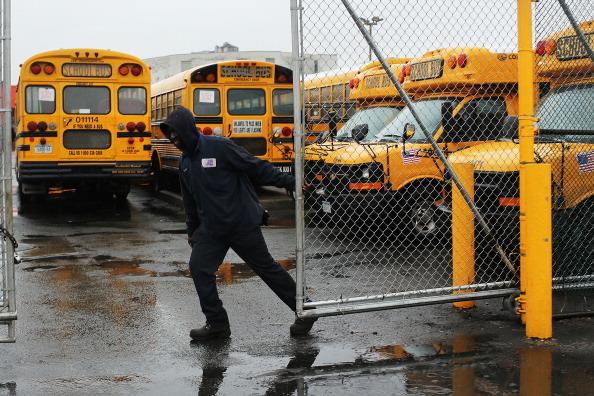 School Bus「New York City School Bus Drivers Strike For Better Job Protection」:写真・画像(9)[壁紙.com]