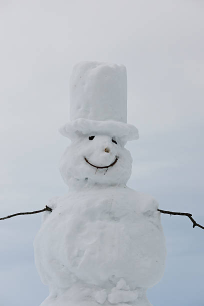 Germany, Baden-Wuerttemberg, Black Forest, view to snowman, close-up:スマホ壁紙(壁紙.com)